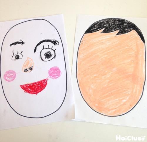 顔を描いた写真