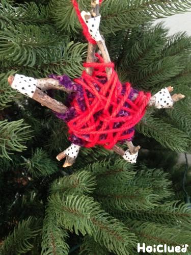 星のぐるぐるオーナメント〜木の枝で楽しむクリスマス製作遊び〜