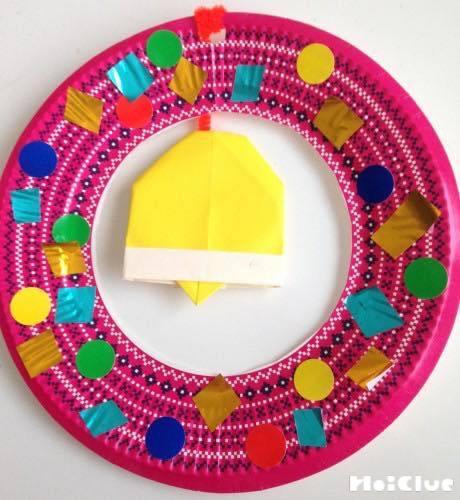 紙皿deリース〜アレンジ自在のクリスマス製作