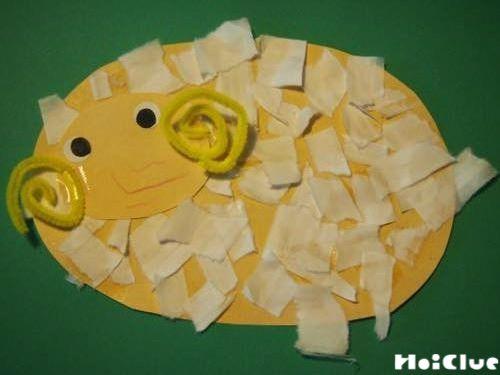びりびりぺたぺた!めぇめぇひつじ〜身近な素材で作るアレンジいろいろ製作遊び〜