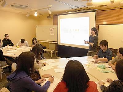 講師の三木さんによるワークショップの写真