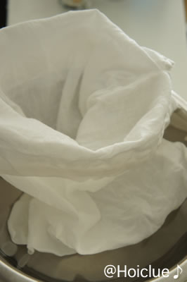 袋状のさらし布の写真
