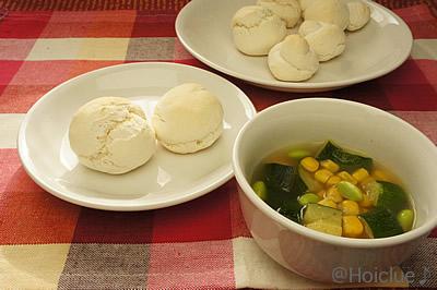 発行いらずの手作りパン&夏野菜たっぷりスープ〜お泊り保育や夏のクッキングにもってこいのごはん〜