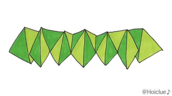 バネのように織り上がった細長い画用紙のイラスト