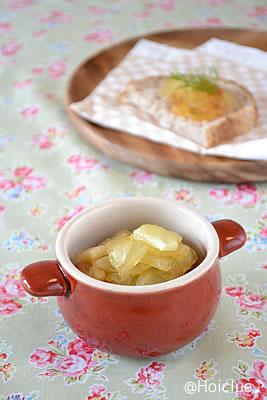 りんごジャムとふりふりバター〜少しの材料で楽しめるクッキング♪