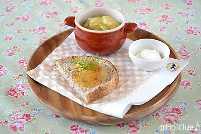 冬に美味しいりんごと手作りバター