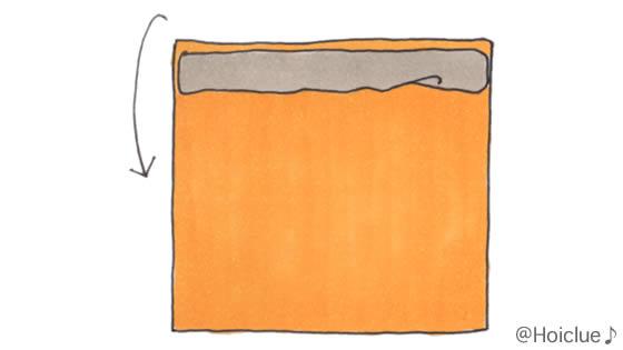 折り紙をクルクル巻いているイラスト