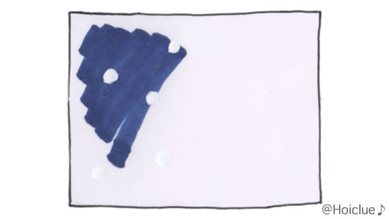 画用紙に絵を描いたイラスト