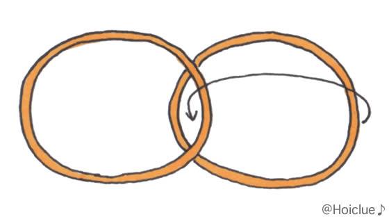 輪ゴムを重ねたイラスト