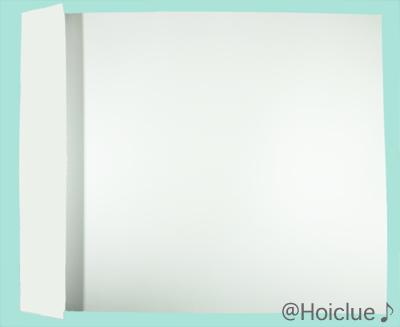 画用紙に折り目をつけた写真