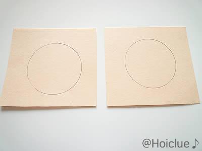 色画用紙に丸を描いた写真