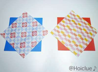 千代紙と折り紙の写真