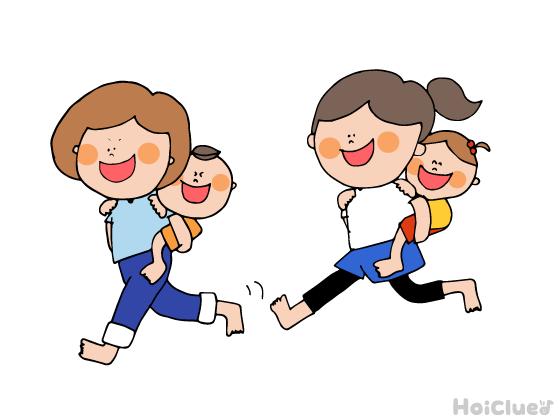 おんぶ競争〜子どもの成長を感じる、ほっこり親子競技〜