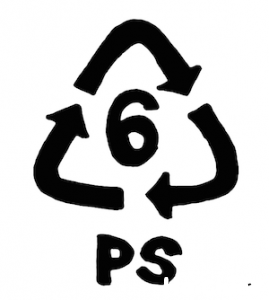 ポリスチレンのマークの写真