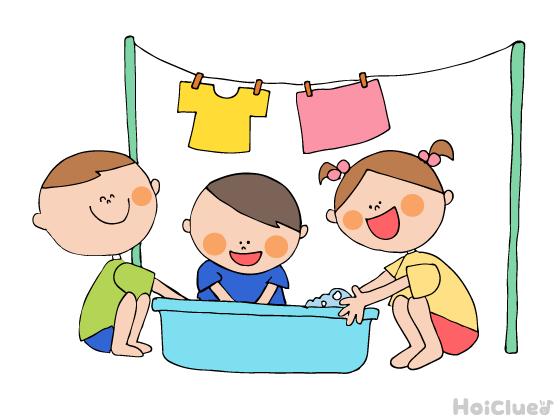 洗濯ごっこ~水遊びしながらお手伝い?発見いろいろ水遊び~