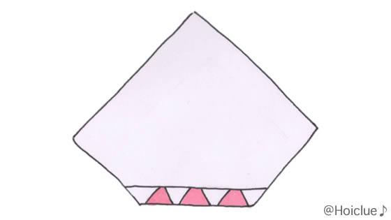紙の端を丸めたイラスト