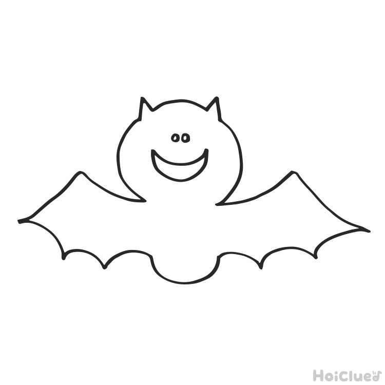 【ぬりえ】コウモリ〜ハロウィンにちなんだぬりえ〜