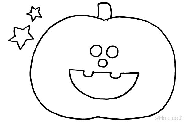 【ぬりえ】カボチャおばけ〜スマイルバージョン〜