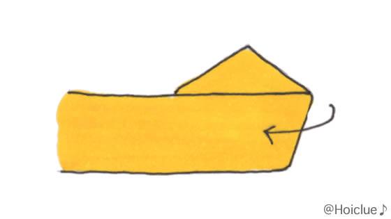 紙テープで五角形を作っているイラスト