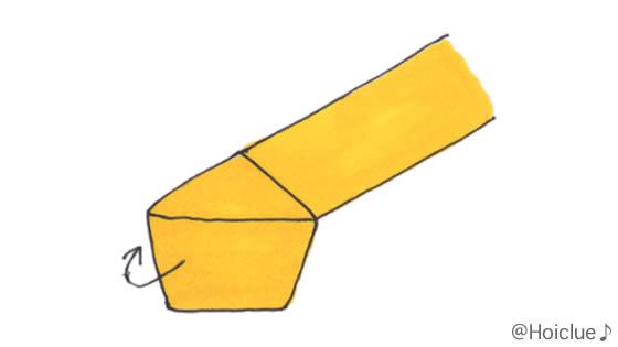 紙テープで五角形を作ったイラスト