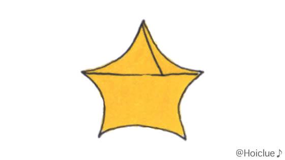 紙テープで星型を作ったイラスト