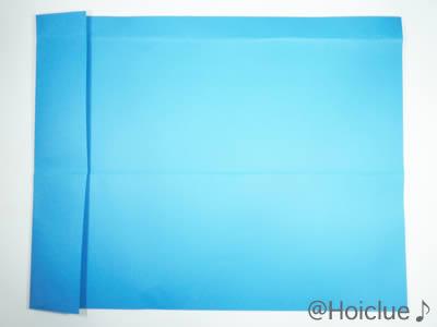 色画用紙に折り目を付けた写真