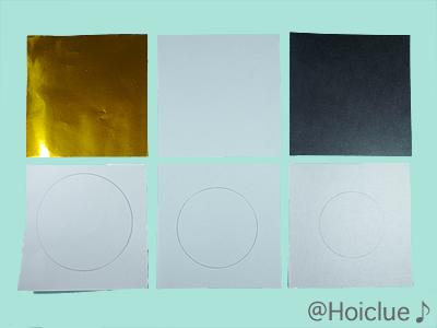 折り紙に円を描いた写真