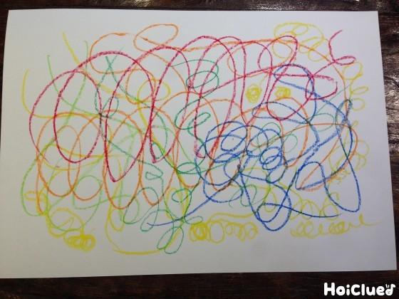 画用紙を絵を描いた写真