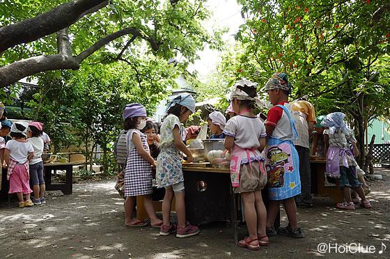カレーを作る子どもたちの様子