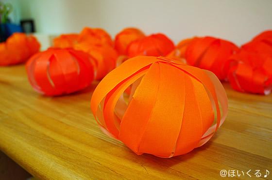 折り紙で作ったかぼちゃ