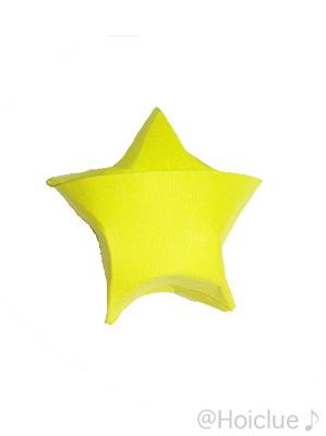 画用紙で星を作った写真