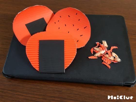 厚紙で簡単おせんべい〜ごっこ遊びも楽しめる手作りおもちゃ〜