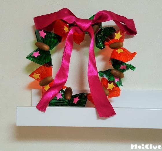 卵パックの手作りリース〜光が透けるクリスマス飾り〜