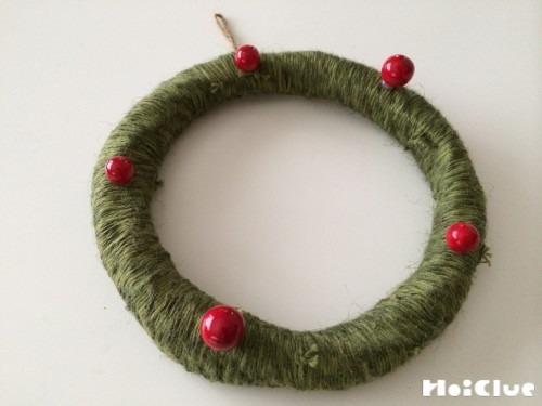 くるくるクリスマスリース〜毛糸で楽しむ製作遊び〜