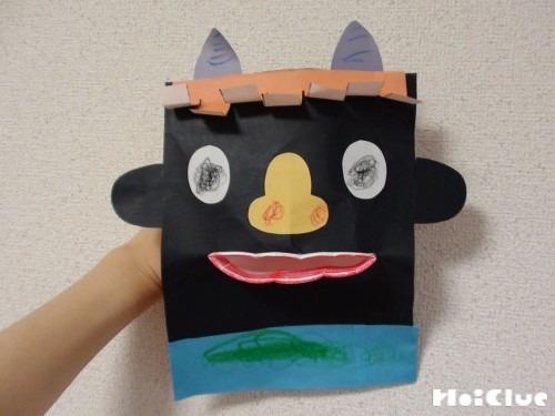 紙コップでパクパク鬼〜作って楽しい手作り人形〜