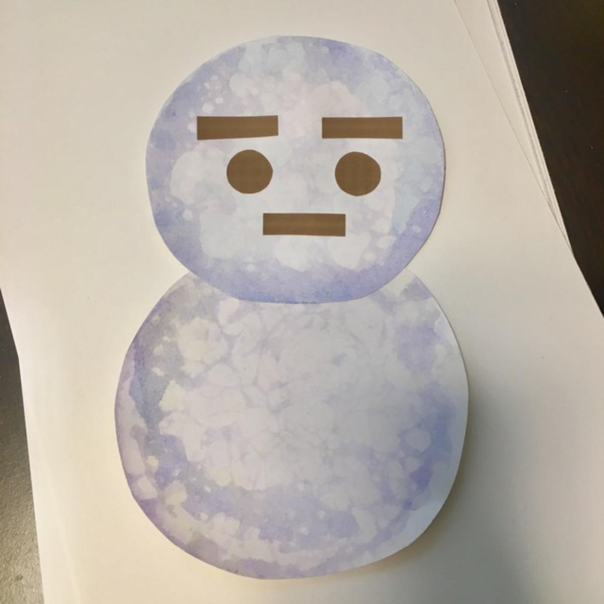 【アプリ投稿】[2歳児 ゆきだるま]バブルアート