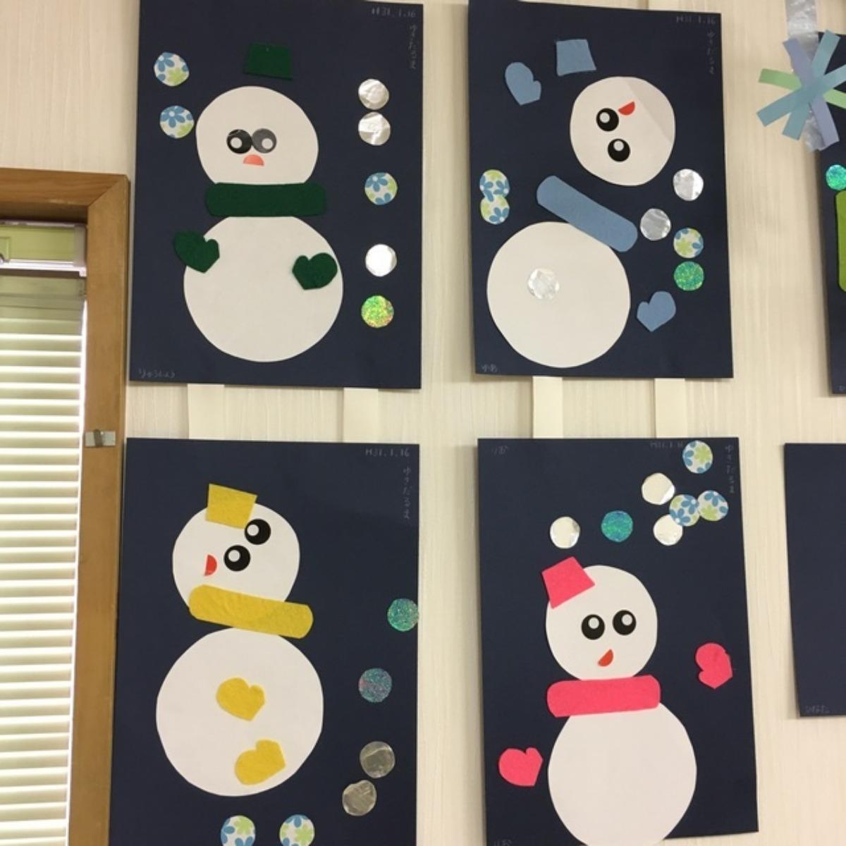 【アプリ投稿】1月製作   雪だるま