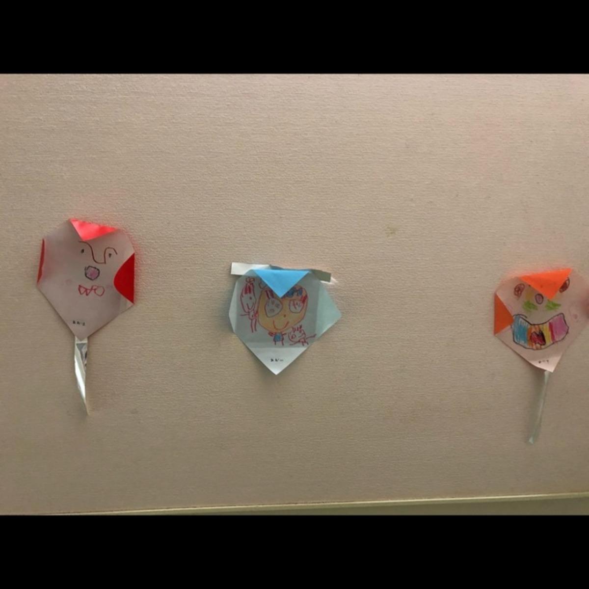 【アプリ投稿】4歳児 折り紙(凧)