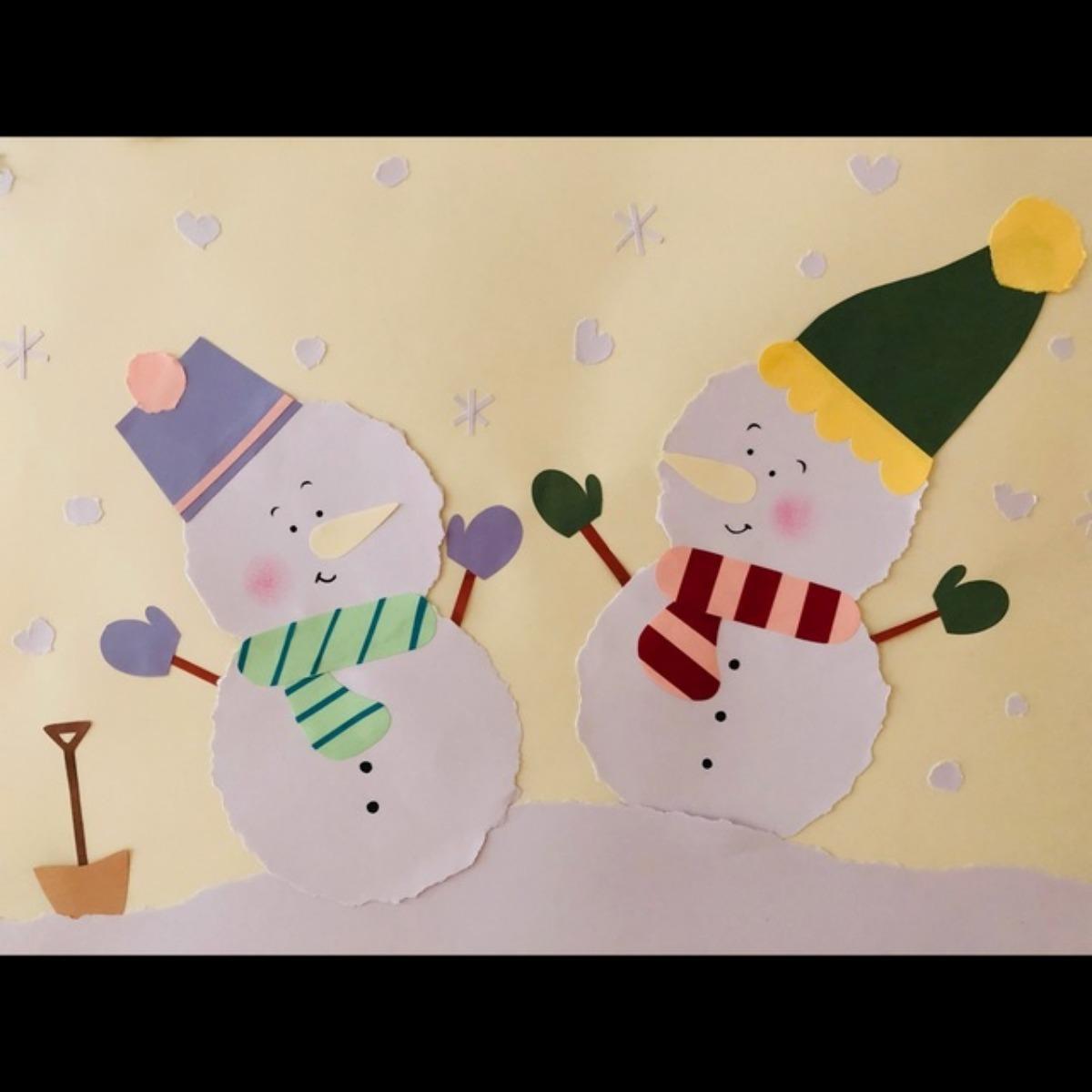 【アプリ投稿】壁面 雪だるま