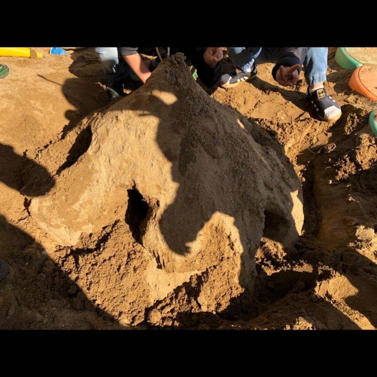 【アプリ投稿】砂遊び 4歳児