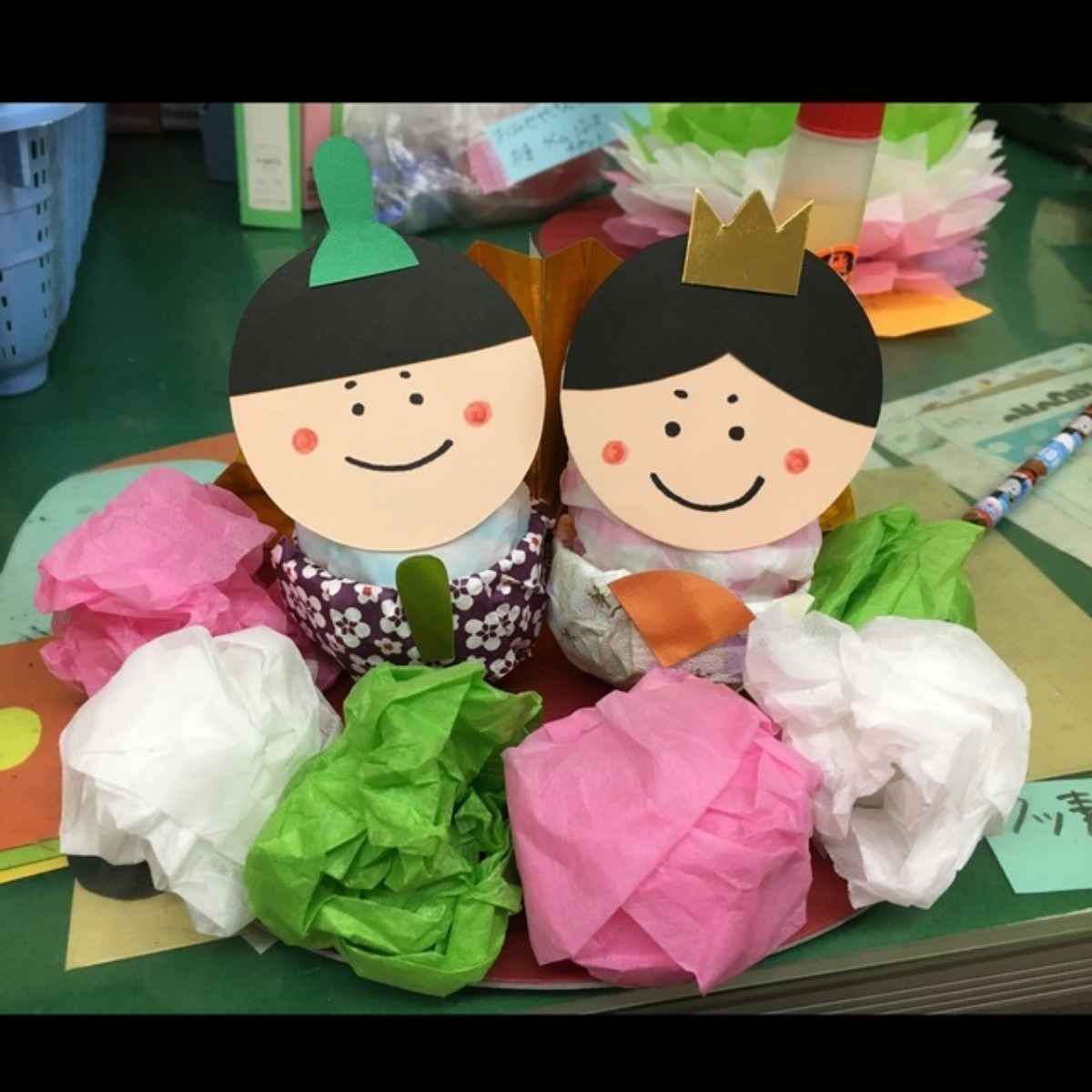 【アプリ投稿】◎雛人形(3歳児、見本)