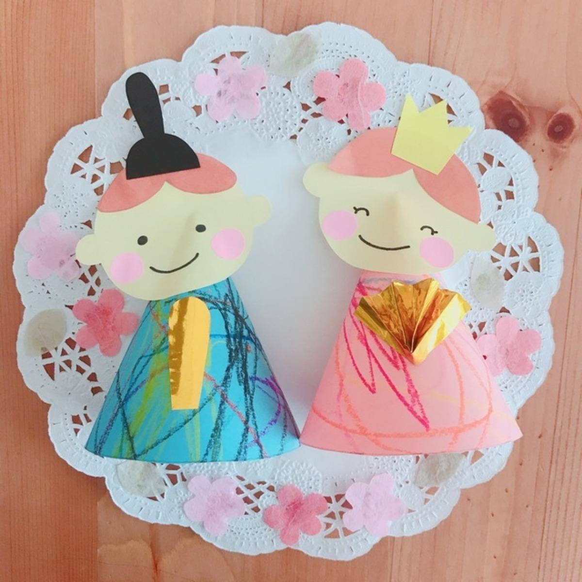 【アプリ投稿】雛人形 着物の模様は娘が描いてくれました(*´˘`*)♡