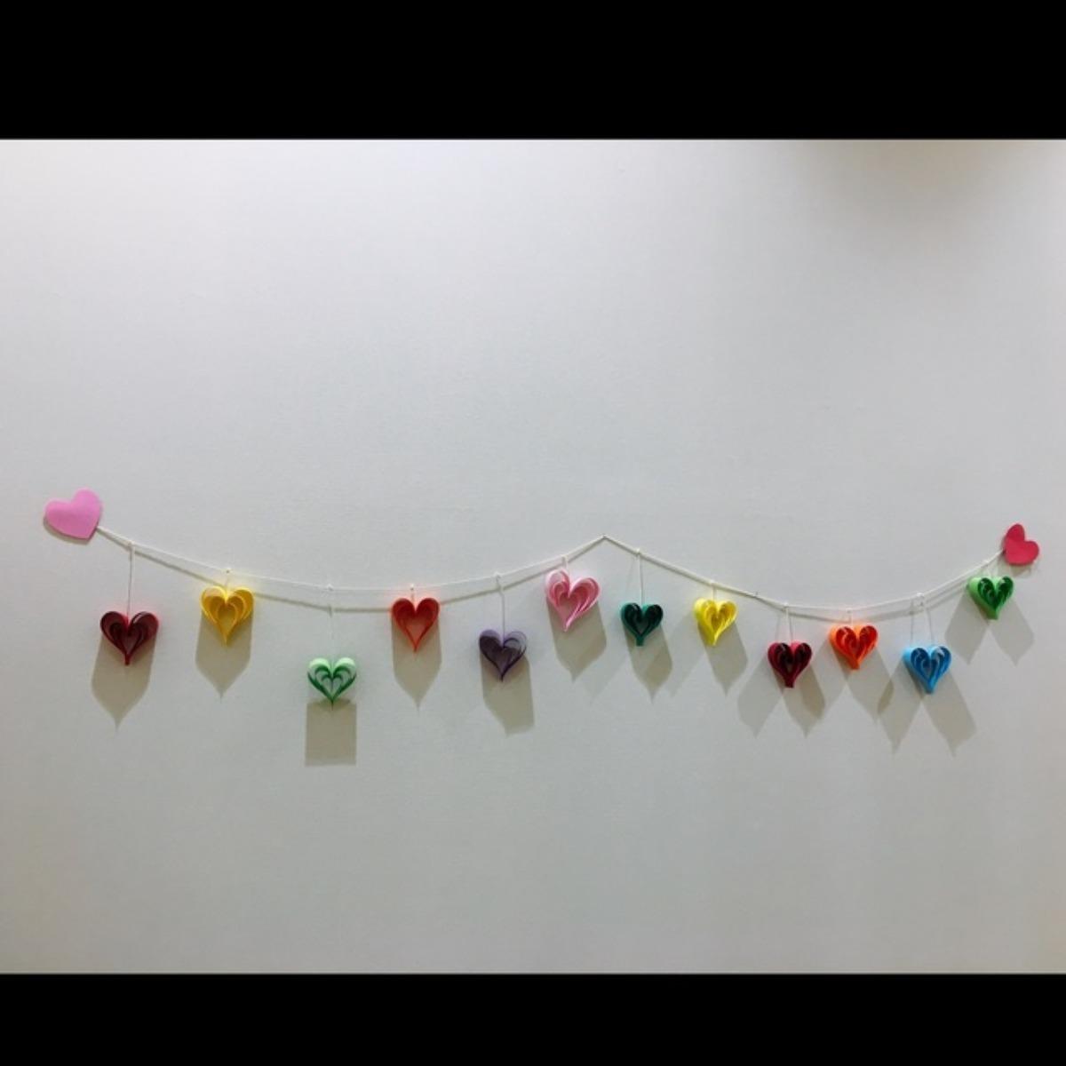 【アプリ投稿】ハート型ガーランド