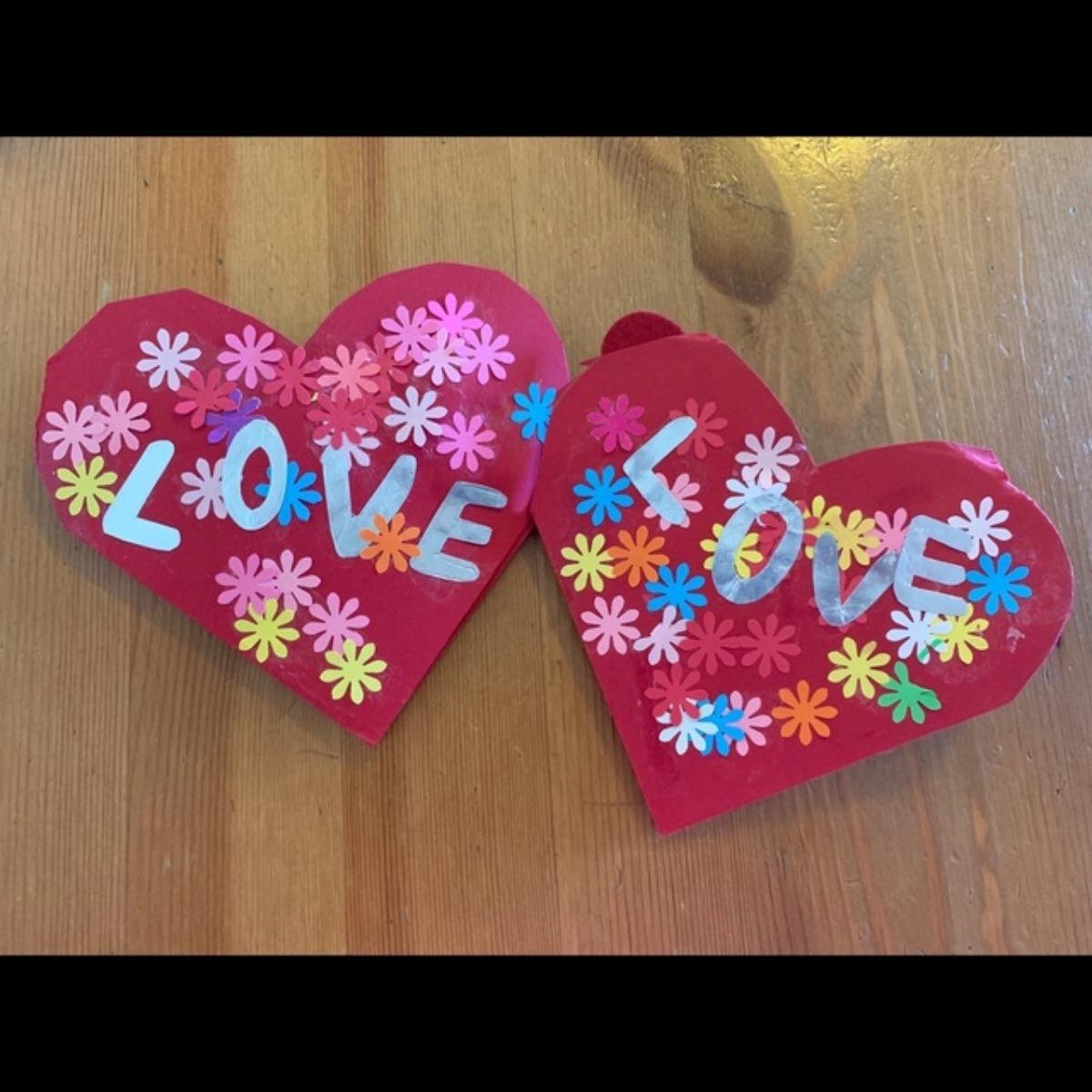【アプリ投稿】お花いっぱいのバレンタインカード