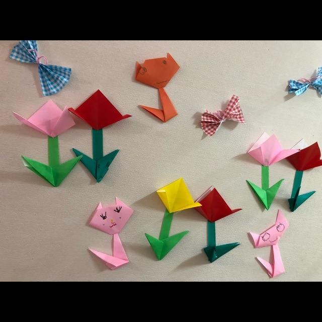 【アプリ投稿】4月制作(折り紙) 4歳児