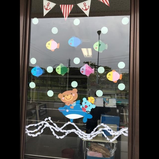 【アプリ投稿】夏の窓飾り