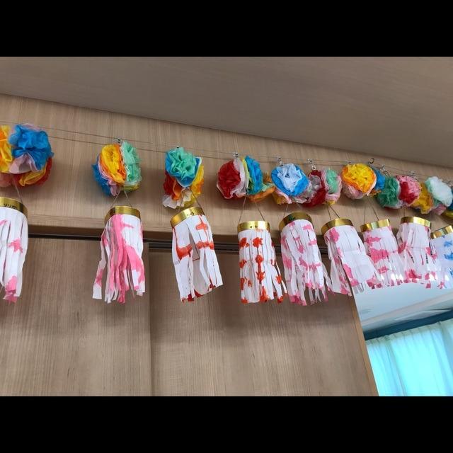 【アプリ投稿】5歳七夕飾りくす玉