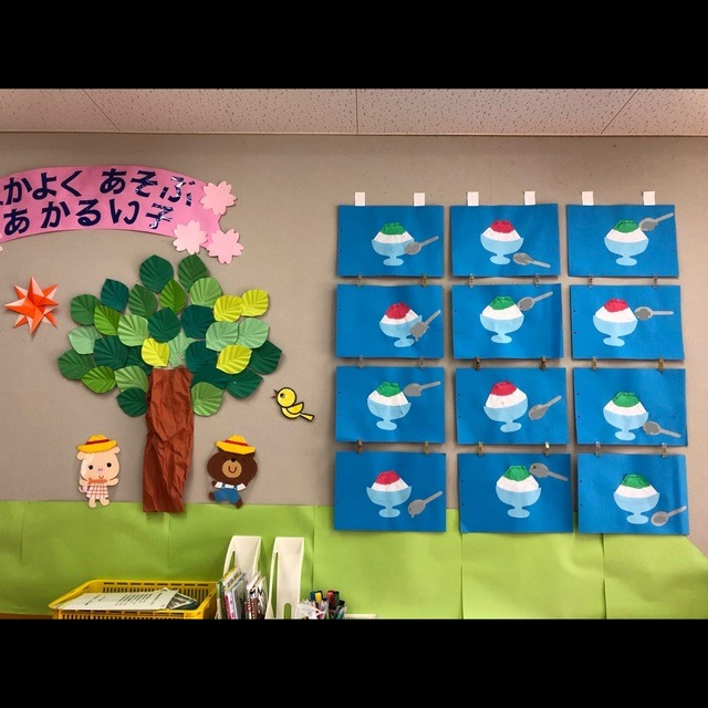 【アプリ投稿】7月壁面 かき氷