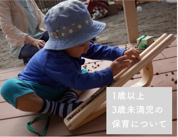 保育の基本【発達をふまえた保育】〜1歳以上3歳未満児の保育について〜