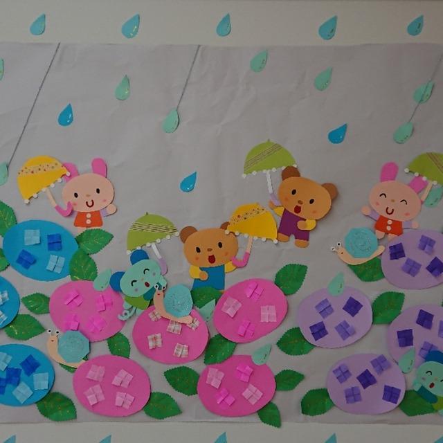 【アプリ投稿】梅雨の頃の壁面飾り